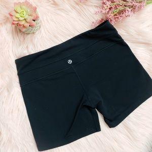 Lululemon All Black  Boogie Shorts Size 6